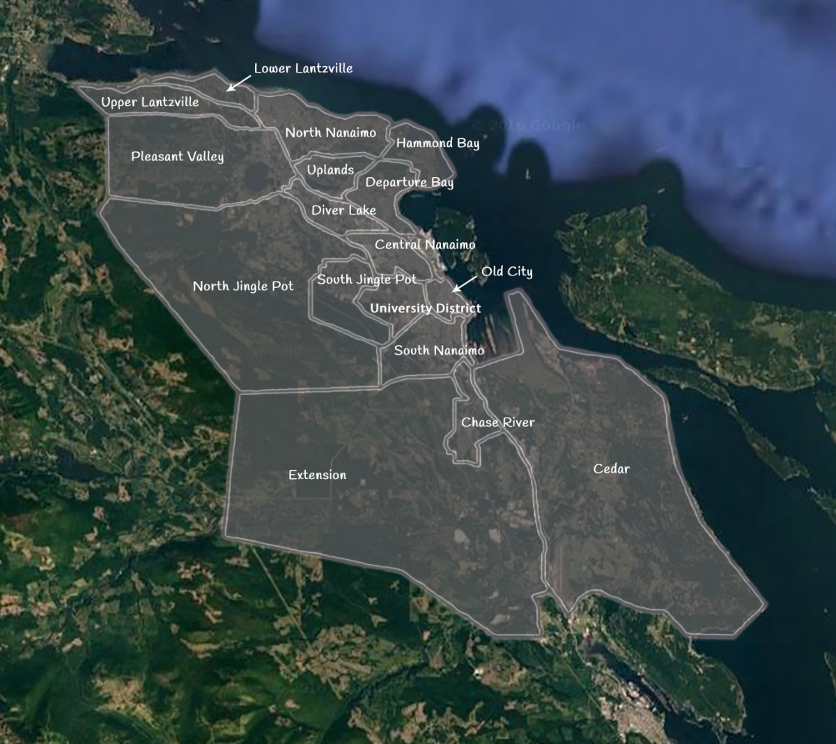 Nanaimo Community Map